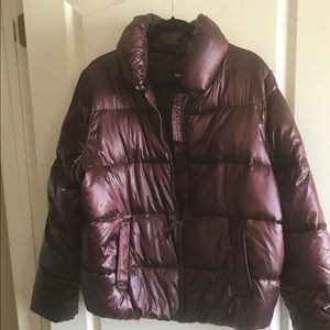 Wine colored puffer jacket